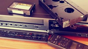 vhs tapes and vcr player