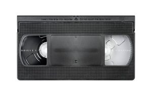 old vhs tape ready to be transferred